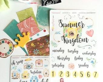 Summer Kingdom, Bible Journaling Kit, Bible Stickers, Bible Journal, Planner Stickers