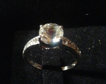 Natural Petalite Sterling Silver Engagement Ring