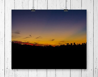 Sunset Print Nature Photography Country Home Decor Landscape Photograph Farmhouse Decor Sunset Photography Gallery Wall Prints Sky Art