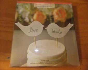 Love Birds Cake Picks Wedding