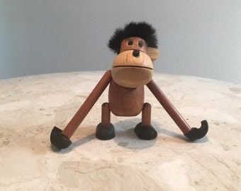 Mid Century wooden ape