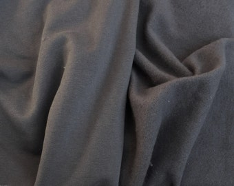 Gray Modal Cotton Spandex Fleece Fabric by Yard 4 Way Stretch 11/15 Very Soft and Stretchy