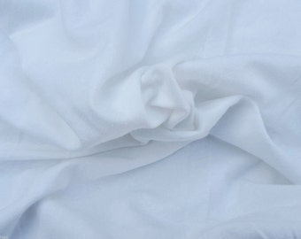 White Hemp Organic Cotton Spandex Blend Fabric Jersey Knit Eco-Friendly 2/16 55""