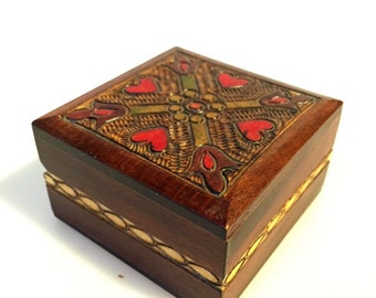 Hand Carved wood Box made in Poland