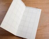 Monthly planner paper insert for Traveler's Notebook - REGULAR SIZE
