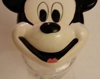 Mickey Mouse Glass Candy Jar with Ceramic Top