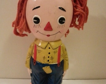 Vintage Raggedy Andy Ceramic Coin Bank