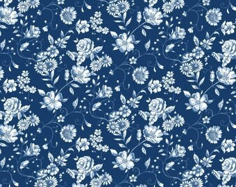 Woodland Forest in Navy 8038 from Blank Quilting