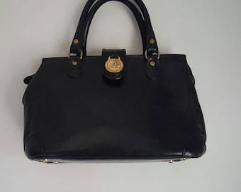 RESERVED Brahmin Black Leather Tote Bag