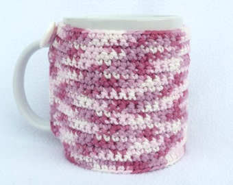 Pink mixture crochet mug cozy