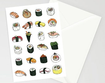 Sushi pattern A6 card
