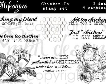 Chicken In Digital Stamp Set