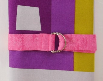 Circular Knitting Needle Case - Pink, Purple, and Mustard Color Block