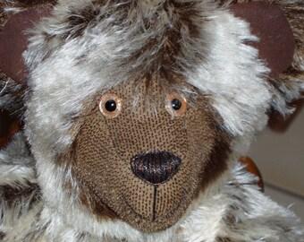 """OOAK Mohair Bear - """"Hickory"""""""