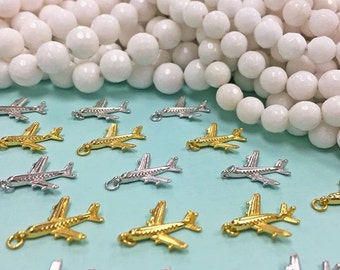 Plane Charm, Silver Airplane Charms, Sterling Silver Airplane Charm, .925 Airplane Charm, Gold Plated Airplane Charm, .925 Airplane Charms