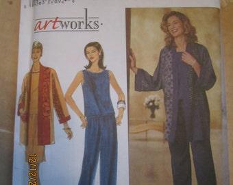Simplicity Artworks Pattern Uncut Misses Top Jacket Pants and Skirt