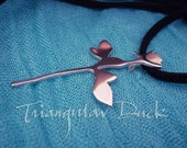 The Enjoy The Silence Rose of Depeche Mode- Sterling Silver Pendant