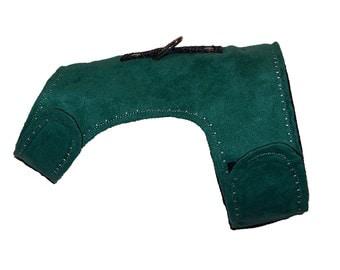 Hyendry's Green Microsuede Walking Jacket / Harness