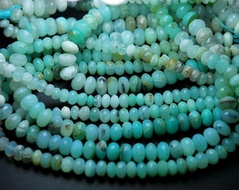 Peruvian Blue Opal Faceted Rondelles Shape Beads,Full 16 Inch Strand,6-7mm size Apprx