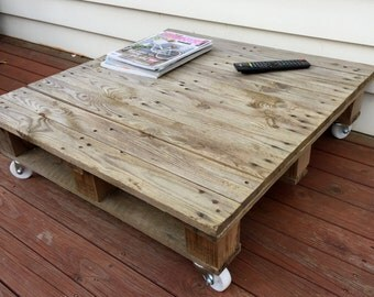 rustic wooden pallet coffee table. delivery not included, local collection