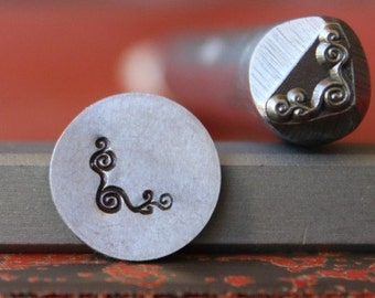 Corner Swirl Steel Stamp-Metal Stamping Tool-Perfect for Metal Stamping and Metal Work  SGDK-34