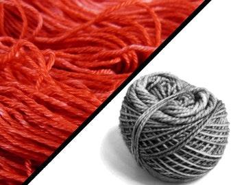 Yarnling per piece : Malouines&Soie fing - Happy new poppy