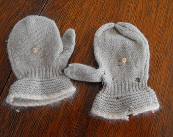 Toddler Vintage Wool Mittens