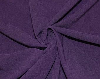 Eggplant Stretch Crepe Fabric - 1 Yard Style 482