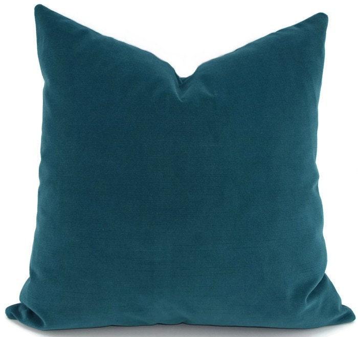 Throw Pillow Cover Deep Turquoise Velvet Pillow Cover 18x18