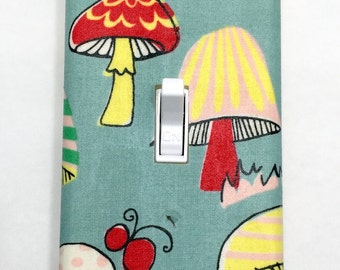 Mushrooms Light Switch Plate Cover / Outlet Cover / Forest / Home Decor / Housewarming Gift / Kid's Room / Nursery / Garden / Toadstools
