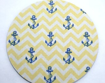 Anchors Nautical Mouse Pad / Computer / Office Decor / Coworker Gift / Home Decor / Teacher Gift / Office Supplies / Desk Decor / Ships Boat