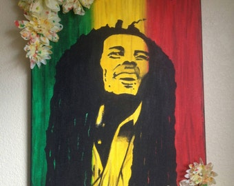 Bob Marley with 3D Florals