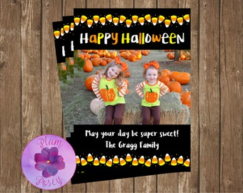 Candy Corn Halloween Card 5x7 Printable