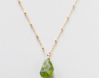 Gold Filled Peridot Necklace