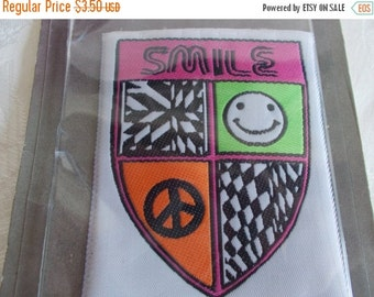 Vintage Smile Sew On  Patch