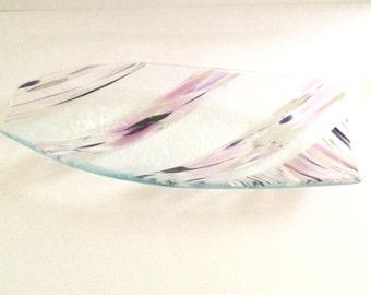 Elongated bowl, romantic bowl, soft pink bowl,  Art bowl