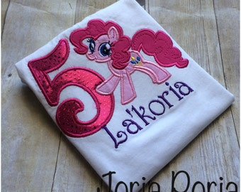 Pinkie pie Inspired Birthday Tshirt