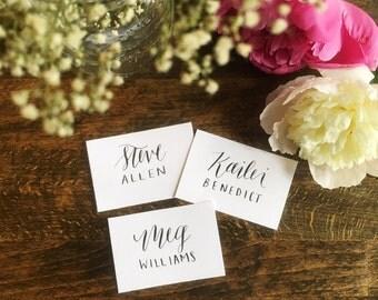 Custom  calligraphy name cards | Weddings | Showers | Birthdays