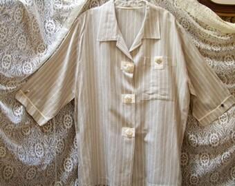 Linen Rayon Lite Weight Jacket - Size 14 / 16 - Red Dirt Girl 287