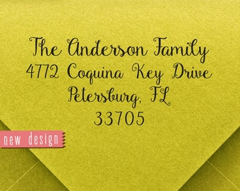 CUSTOM ADDRESS STAMP, personalized pre inked address stamp, pre inked custom address stamp, address stamp with proof, Wedding Stamp RC6-6