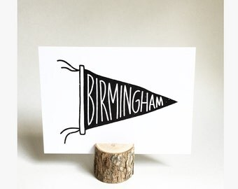 Birmingham Pennant Poster  |  Birmingham, Alabama  |  Pennant