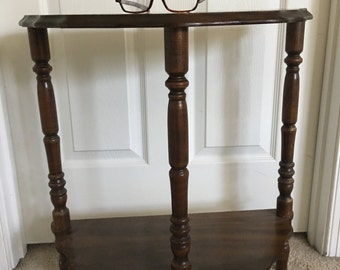 Small end wall  antique wood table