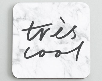 trs cool coaster hand lettered typography coaster coaster gift for her