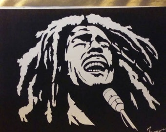 """BOB MARLEY in Art is a Limited Edition, 10""""x13"""" numbered Print of the Original Painting by Artist Charles Freeman"""