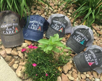 Hats {Camping hair don't care} 5 colors! FREE ship USA