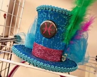 Pisces Zodiac Tiny Top Hat