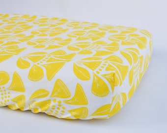 Yellow and white pack n play sheets, Play yard mattress cover for baby, Fitted sheet for porta crib mattress, Play yard sheets