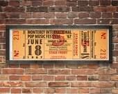 Monterey International Pop Music Festival 1967 Concert Ticket