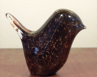 Mid Century Handblown Glass Bird