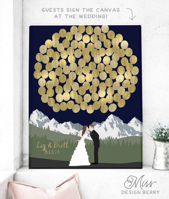 Guest Book Printing: Wedding Guest Book Print Guest Book Alternative Wedding